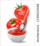 a vector image of a tomato... | Shutterstock .eps vector #1150025468