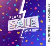 flash sale template design | Shutterstock .eps vector #1150028138