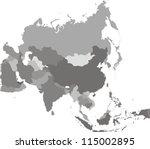 asia map | Shutterstock . vector #115002895