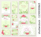 vector set of wedding design... | Shutterstock .eps vector #1150030865