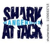 hand drawn dangerous shark...   Shutterstock .eps vector #1150033715