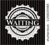 waiting silver emblem or badge | Shutterstock .eps vector #1150035485