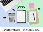 digital tablet with blank... | Shutterstock .eps vector #1150037522