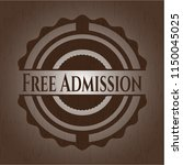 free admission wood icon or... | Shutterstock .eps vector #1150045025