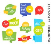 isolated sale sticker bitmap... | Shutterstock . vector #1150047995