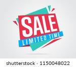 sale banner bitmap isolated.... | Shutterstock . vector #1150048022