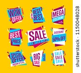 sale banners. isolated banners... | Shutterstock . vector #1150048028