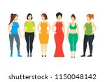 cartoon characters smiling plus ... | Shutterstock .eps vector #1150048142