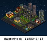 night city district panorama... | Shutterstock .eps vector #1150048415