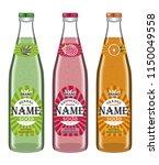 collection transparent bottles... | Shutterstock .eps vector #1150049558