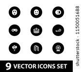 joy icon. collection of 9 joy... | Shutterstock .eps vector #1150051688