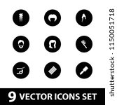 hairstyle icon. collection of 9 ... | Shutterstock .eps vector #1150051718