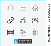 childhood icon. collection of 9 ...   Shutterstock .eps vector #1150052708