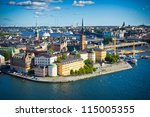 Panorama Of Stockholm Old City...
