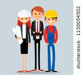 real estate development team.... | Shutterstock .eps vector #1150054502