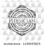 physician grey badge with... | Shutterstock .eps vector #1150055825