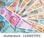 50  200  500 and 2000 indian... | Shutterstock . vector #1150057592