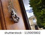 Bronze Knocker On The Door Of ...
