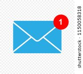 new message vector icon. inbox... | Shutterstock .eps vector #1150058318