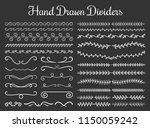 set of hand drawn floral and... | Shutterstock .eps vector #1150059242