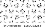 bear seamless pattern panda... | Shutterstock .eps vector #1150063265