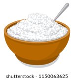 illustration of fresh cottage... | Shutterstock . vector #1150063625