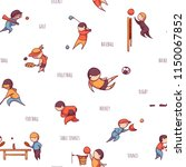 vector set of 10 sports  such... | Shutterstock .eps vector #1150067852