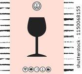 wineglass icon symbol | Shutterstock .eps vector #1150068155