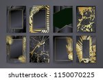 set of elegant brochure  card ... | Shutterstock .eps vector #1150070225