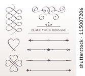 set calligraphic design...   Shutterstock .eps vector #115007206