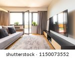 television above countertop in...   Shutterstock . vector #1150073552