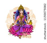 lakshmi is a hindu and... | Shutterstock .eps vector #1150075082