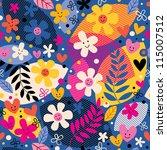 flowers pattern | Shutterstock .eps vector #115007512