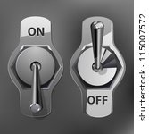 realistic toggle switch grey...