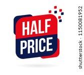 half price banner isolated in... | Shutterstock .eps vector #1150081952