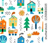 childish seamless pattern with... | Shutterstock .eps vector #1150083035