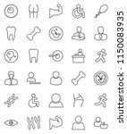 thin line vector icon set  ... | Shutterstock .eps vector #1150083935