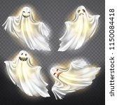 vector set of shining ghosts  ... | Shutterstock .eps vector #1150084418