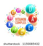 vitamin complex poster with... | Shutterstock .eps vector #1150085432
