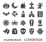 halloween icon set | Shutterstock .eps vector #1150085528