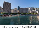 view of the coast of the... | Shutterstock . vector #1150089158
