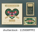 wedding invitation template set.... | Shutterstock .eps vector #1150089992