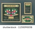 wedding invitation template set.... | Shutterstock .eps vector #1150090058