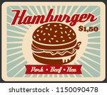 fast food hamburger retro...   Shutterstock .eps vector #1150090478