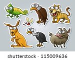 vector illustrated set of... | Shutterstock .eps vector #115009636