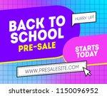 pre sale back to school...   Shutterstock .eps vector #1150096952