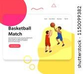 basketball match landing page... | Shutterstock .eps vector #1150099382