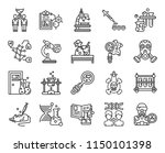 set of 20 icons such as... | Shutterstock .eps vector #1150101398
