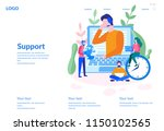 support  online global tech... | Shutterstock .eps vector #1150102565