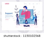support  online global tech... | Shutterstock .eps vector #1150102568